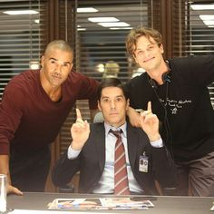 Criminal Minds cast. The hunk, the leader, and the genius.