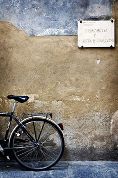 """Florence~""""She decided to sit on the curb and wait and see if the owner of the bike just might be her future husband. She had read 'Il postino' and knew such things were possible. After all, she was a romantic through and through."""""""