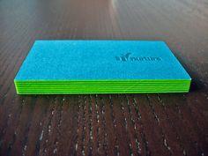 Nurture Athletics bright letterpress Business Cards