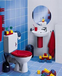 Shower Curtains: To give the designer look to your child's bathroom always hang two curtains on one rod to form gentle folds which can hide the toys filled ...