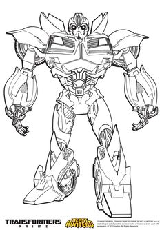 Best Transformers Prime Coloring Pages Bumblebee http