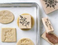 Stamping unbaked cookies