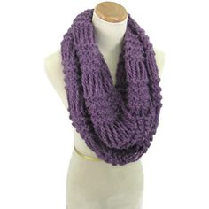 Infinity Scarf, Knit Scarf, Loop Scarf, Neck Warmer, Circle Scarf,... ($45) ❤ liked on Polyvore featuring accessories, scarves, infinity scarves, circle scarves, purple shawl, loop scarf and knit shawl