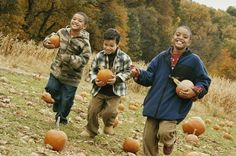 Halloween Party Games for Kids That Won't Cost a Dime: Halloween Capture the Pumpkins