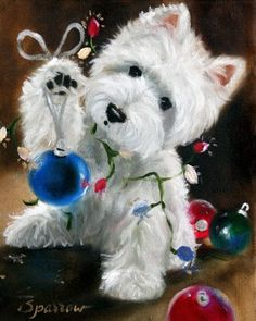 WESTIE CHRISTMAS CHEER GARDEN FLAG FREE SHIP USA RESCUE #FLAG