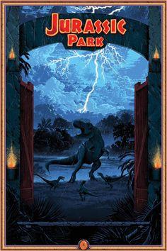 jurassiraptor: Jurassic Park posters by Kilian Eng, via T Rex Jurassic Park, Jurassic Park Trilogy, Jurassic Park Poster, Jurassic World 3, Jurassic Movies, Movie Poster Art, New Poster, Parc A Theme, Michael Crichton