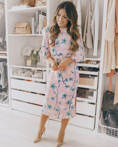 8ca561672b4 Pink floral Easter Dress  style  Easter  outfit