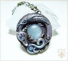 Celestite Dragon by EnchantedTokenArt.deviantart.com on @deviantART