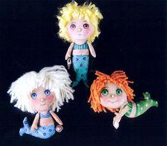 Dollmaker's Journey Cloth Doll Sewing Patterns (PDFs) by ClothDollPatterns Doll Sewing Patterns, Doll Clothes Patterns, Sewing Clothes, Pattern Sewing, Clothing Patterns, Little Mermaid Doll, Mermaid Dolls, Mermaid Ornament, Doll Maker