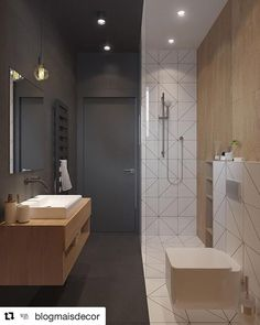 Are you looking for some minimalist bathroom ideas? Well, you are on the right page then. Here we have several pictures of minimalist bathroom decor ideas you try. No matter how big or small your bathroom is, decorating this room… Continue Reading → Modern Bathroom Design, Bathroom Interior Design, Modern House Design, Modern Interior Design, Bathroom Designs, Interior Ideas, Modern Houses, Contemporary Interior, Interior Paint