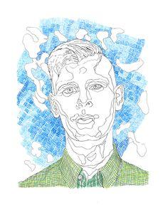 Lars Vaular kommer til Slottsfjell Les mer på www.no My Works, Behance, Illustrations, Portrait, Drawings, Artwork, Work Of Art, Men Portrait, Portrait Illustration