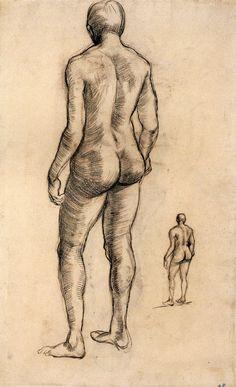 Idol by Vincent van Gogh Medium: chalk on paper
