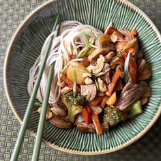 Shredded Beef Lo Mein in the crock pot