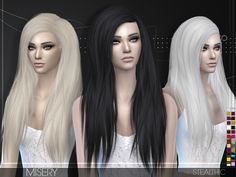 Stealthic: Misery hairstyle  - Sims 4 Hairs - http://sims4hairs.com/stealthic-misery-hairstyle-2/
