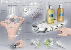 GROHE smartcontrol shower pairs intuitive design with intelligent technology Presentation Techniques, Presentation Styles, Product Presentation, Interaktives Design, Sketch Design, Graphic Design, Logo Design, Interior Design, Gnu Linux
