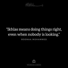 Ikhlas means to state the truth, do a good deeds, to help others without expecting a reward. Just for the sake of Allah the Almighty.