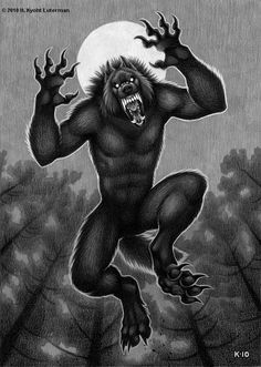 """""""Leaping Lycanthrope"""" by H.K.Luterman www.kyoht.com"""