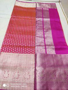 Venkatagiri  pattu  10500 Gadwal Sarees Silk, Hand Work Blouse Design, Saree Blouse, Indian Fashion, Blouse Designs, Quilts, Bedroom, Jewelry, Dresses