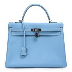 modaselle - Hermes Celeste Blue Epsom Kelly 35, CAD $13,500.00 (http://www.modaselle.com/hermes-celeste-blue-epsom-kelly-35/)