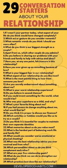 Conversation Starters About Your Relationship.   conversation topics for couples on the phone | conversation starters for  married couples | conversation starters for couples texting Know what to expect when your partner is angry by posing this question, and don't forget to share your side and discuss how both of you can work things out whenever one of you is angry. Conversation Topics For Couples, Conversation Starter Questions, Conversation Quotes, Conversation Starters For Couples, Relationship Topics, Interpersonal Relationship, Relationships, Funny Texts Jokes, Text Jokes