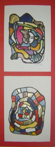 Collage nach Hundertwasser