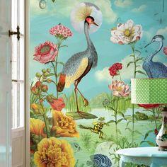 Fototapeta Kiss The Frog Eijffinger 186 x PIP Studio Tier Wallpaper, Vinyl Wallpaper, Animal Wallpaper, Flower Wallpaper, Pattern Wallpaper, Mural Floral, Flower Mural, Pip Studio, Kiss The Frog