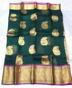 Kanchi organza saree Price:4300 Order what's app 919573737490