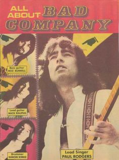 BAD COMPANY Rock Posters, Band Posters, Concert Posters, Music Posters, 70s Music, Music Love, Rock Music, Rock And Roll Bands, Rock N Roll
