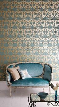 DIY Wallpaper Wall Art - officeluxeblog.com