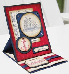 Open Sea Easel Card by kvsquires - Cards and Paper Crafts at Splitcoaststampers