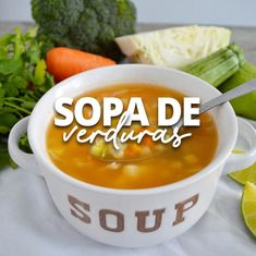Very easy to prepare, healthy and perfect to take advantage of vegetables and include them more in your diet. Bean Soup Recipes, Tofu Recipes, Clean Recipes, Organic Recipes, Vegetarian Recipes, Cooking Recipes, Easy Cooking, Healthy Cooking, Mexican Salsa Recipes
