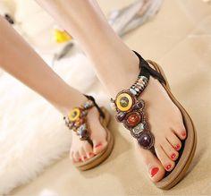 2016 sommer Flachen Sandalen Damen Böhmen Strand Flip-Flops Schuhe Gladiator Frauen Schuhe Sandalen plattform Zapatos Mujer Alias