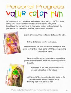 Stand & Shine Magazine: Personal Progress Value Color Run