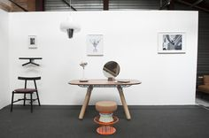 Valet Jeeves, Ronin chair, Magnum table, Novy Bor Carafe, Lalou mirror, Tembo stool for La Chance - photo by Joséphine Aury - www.lachance.fr Carafe, Stool, Chair, Raw Wood, Source Of Inspiration, Pendant Lamp, Swan, Office Desk, Table