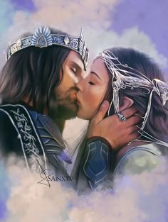 Viggo Mortensen as Aragorn and Liv Taylor as Arwen in The Lord of the Rings Aragorn And Arwen, Movie Kisses, Best Kisses, World Of Fantasy, Elvish, Jrr Tolkien, Couple Art, Middle Earth, Lord Of The Rings