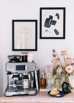 Home Update: Coffee Bar — A Fabulous Fete Coffee Room, Coffee Bar Home, Coffee Corner, Coffee Set, Coffee Bar Station, Coffee Station Kitchen, Tea Station, Espresso Bar, Coffee Games