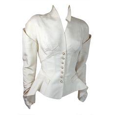 Thierry Mugler - Vintage THIERRY MUGLER 1980's Shantung silk articulated jacket