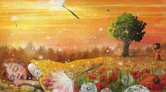 Art And Illustration, Dandelion Clock, Lisa, Decoupage Paper, Girl Wallpaper, Art Google, Art Girl, Fairy Tales, Illustrator