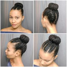 Flat twists and a bun. Great protective style! @_simplystasia