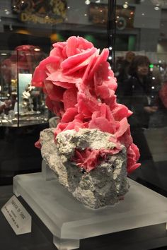 Emperor of China, Chinese Rhodocroscite: a very soft mineral that is about 3-1/2X as dense as ice: because it is soft, it's difficult to cut & is rarely used in jewelry.  It is the state mineral of CO. Very large crystals are not common--some of the best occur in the Sweet Home Mine in CO