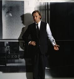 Martin Kippenberger (in proto-Margiela suit). Photography: Clegg & Guttmann (1986)