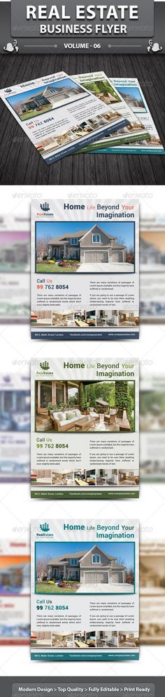 Real Estate Business Flyer | Volume 6  #GraphicRiver         Real Estate business flyer is a designed for any types of companies.