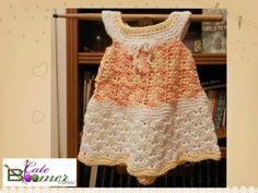 Crochet Toddler Sorbet dress by Leah Eneas