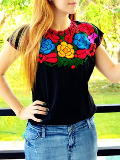 Embroidered Shirts on Mercari Mexican Shirts, Mexican Blouse, Mexican Outfit, Cowboy Outfits, Fall Outfits, Charro Outfit, Boho Fashion, Fashion Outfits, Womens Fashion