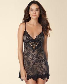 Soma Intimates Jonquil Persian Lace Sleep Chemise Black #somaintimates My Soma Wish List Sweeps