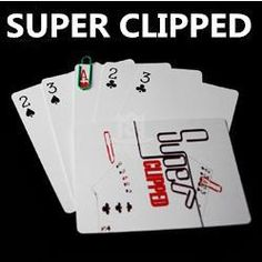 Free shipping! 5pcs/lot Super Clipped - Card Magic Tricks,close up magic,stage,illusions,mentalism,party magic #Affiliate