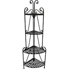 Shop for Folding 4-shelf Corner Bakers' Rack. Get free shipping at Overstock.com - Your Online Garden
