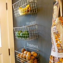 100 Small Kitchen Ideas To Hack Your Pantry Baskets On Wall Hanging Wall Baskets Hanging Fruit Baskets