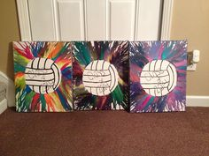 Volleyball crayon art-  instead of the class of 2014 I would put volleyball your name.