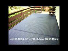 Balkonbelag in Steffeln mit Bergo ROYAL in graphitgrau. Patio